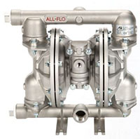 All-Flo 1 Inch (in) National Pipe Thread (NPT) Ports Air-Operated Diaphragm Pump
